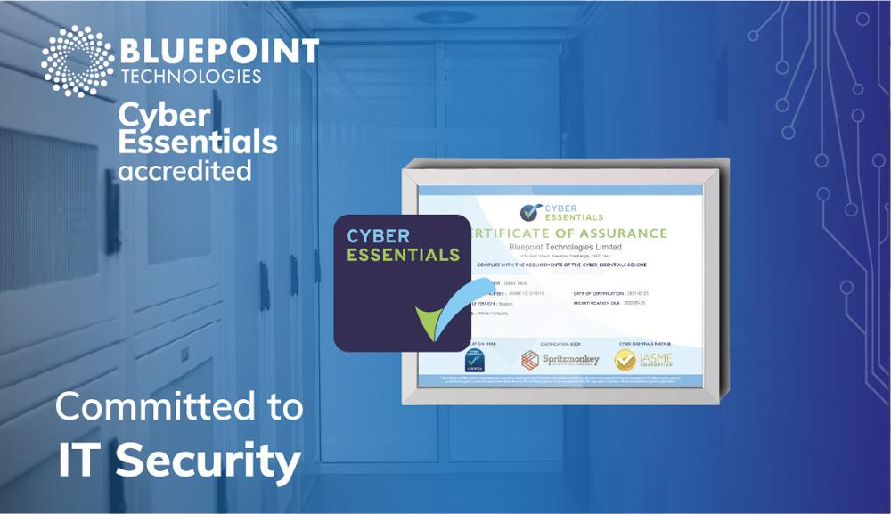 Bluepoint Achieves Cyber Essentials Accreditation